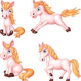 Cartoon horse collection set Stock Images