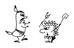 Illustration of cartoon Indians. Vector illustration of cartoon Indians Stock Image
