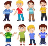 Cartoon kids with different expresion royalty free illustration