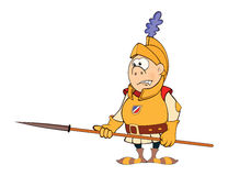 Illustration of a cartoon knight Royalty Free Stock Images