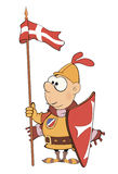 Illustration of a cartoon knight Stock Photos