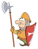 Illustration of a cartoon knight Royalty Free Stock Photos