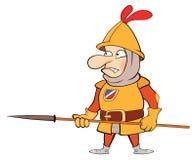 Illustration of a cartoon knight Stock Photos