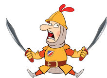 Illustration of a cartoon knight Royalty Free Stock Image