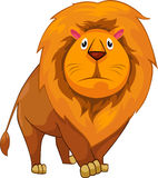 illustration cartoon lion vector  Royalty Free Stock Images