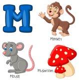 Cartoon M alphabet. Illustration of Cartoon M alphabet royalty free illustration