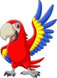 Cartoon macaw waving. Illustration of Cartoon macaw waving stock illustration