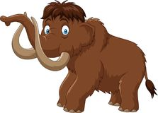 Cartoon mammoth isolated on white background Royalty Free Stock Photo
