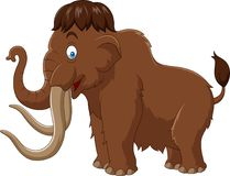 Cartoon mammoth isolated on white background Stock Photography