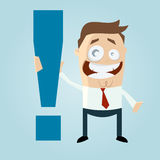 Man with exclamation mark Royalty Free Stock Image