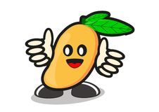 Illustration of cartoon mango Stock Photography