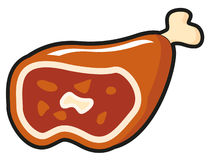 Illustration of cartoon meat Stock Photo
