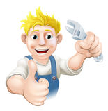 Cartoon mechanic or plumber Royalty Free Stock Photos