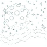 Illustration of a Cartoon moon with space for text Royalty Free Stock Image