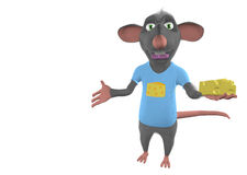 Illustration of a cartoon mouse showing blank Royalty Free Stock Image