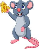 Cartoon mouse showing slice of cheese. Illustration of Cartoon mouse showing slice of cheese stock illustration