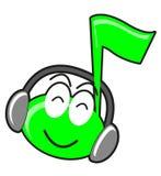 Illustration of cartoon music tone Royalty Free Stock Photos
