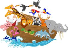 Cartoon Noah`s ark. Illustration of Cartoon Noah`s ark vector illustration