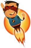 Comic Superhero Blasting Off Royalty Free Stock Photo
