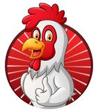 Cartoon rooster giving thumbs up stock illustration