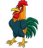 Cartoon rooster posing stock illustration