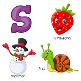 Cartoon S alphabet. Illustration of Cartoon S alphabet Vector Illustration