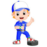 Illustration of Cartoon serviceman Royalty Free Stock Photo