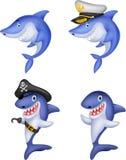 Cartoon shark collection set. Illustration of Cartoon shark collection set Stock Photography
