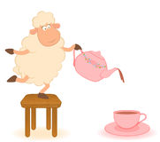 Illustration of cartoon sheep Stock Image