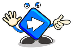Illustration of cartoon sign Stock Image