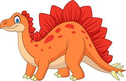 Cartoon smiling stegosaurus Royalty Free Stock Images