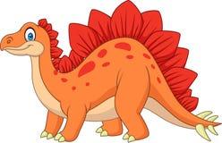 Cartoon smiling stegosaurus. Illustration of cartoon smiling stegosaurus Royalty Free Stock Images