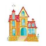 Illustration in cartoon style mansion Stock Photo