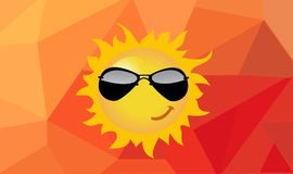 Illustration of cartoon sun Royalty Free Stock Photo
