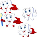 Cartoon teeth collection set Stock Image