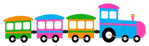 Cartoon train colorful clip art Royalty Free Stock Images