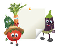 Illustration of Cartoon Vegetables Royalty Free Stock Photo