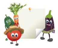 Illustration of Cartoon Vegetables Royalty Free Stock Photo