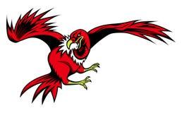 Illustration of Cartoon vulture Stock Photography