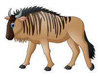 Cartoon wildebeest mascot. Illustration of Cartoon wildebeest mascot Royalty Free Stock Images