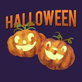 Illustration of carved pumpkins for Halloween vector illustration