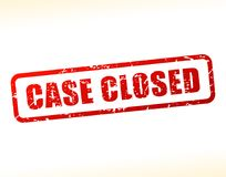 Case closed text buffered. Illustration of case closed text buffered on white background Royalty Free Stock Photo