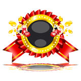 illustration on casino theme on white background Royalty Free Stock Photos