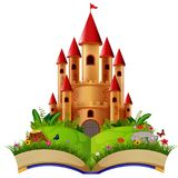 Castle in the storybook. Illustration of Castle in the storybook vector illustration