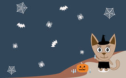 Illustration cat celebrates Halloween Royalty Free Stock Image