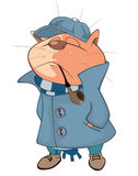 Illustration of a Cat Detective. Cartoon Character Stock Photography