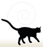 illustration of cat silhouette Royalty Free Stock Photos