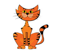 Illustration of a cat. Vector illustration of a cat Stock Image
