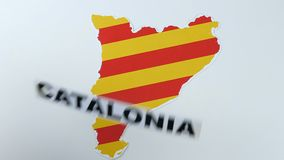 Illustration, Catalonia is independent stock video