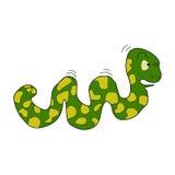 Illustration of caterpillar. On white background Stock Image